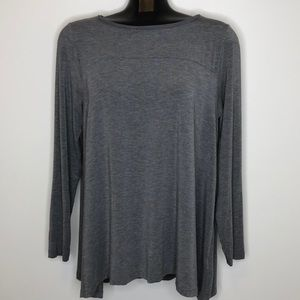 LANDS' END grey long sleeve flowy tunic top L